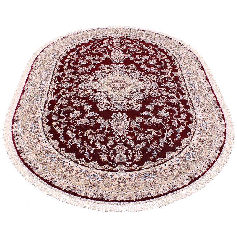 ESFEHAN 5978A OVAL D.RED/IVORY
