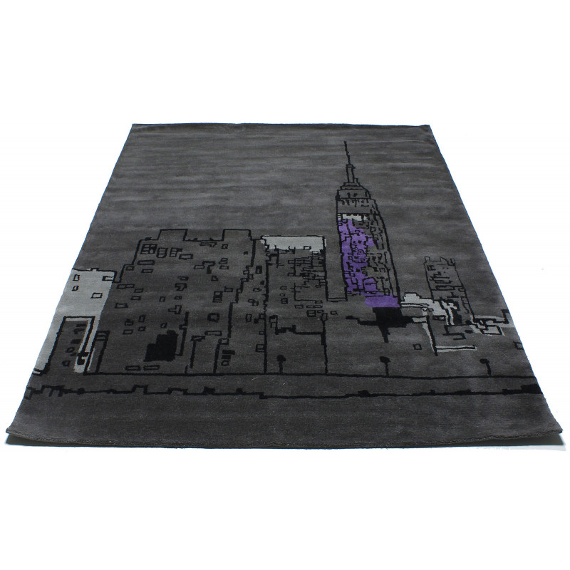 HAND TUFTED V Cityscape Rug 1 Deep Grey